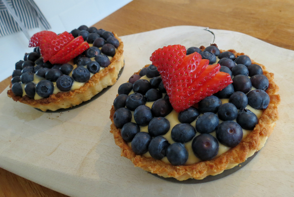 low FODMAP blueberry tarts