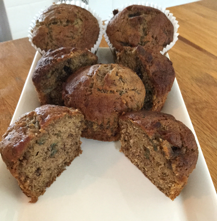 Low FODMAP banana and cinnamon muffins