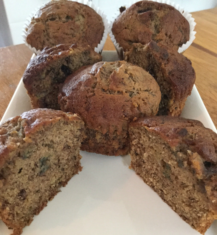 Gluten free banana and cinnamon muffins