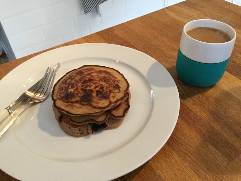Buckwheat pancakes with coffee